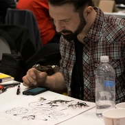 All the artist at C2E2 were amazing and they continued to sketch and draw throughout the day.