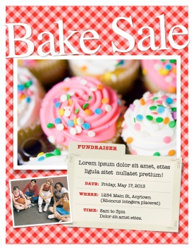 Bake Sale Flyer Template in Pages