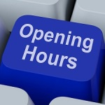 Opening Hours Key Shows Retail Business Open